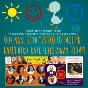 Register Quick at http://FacePR.org