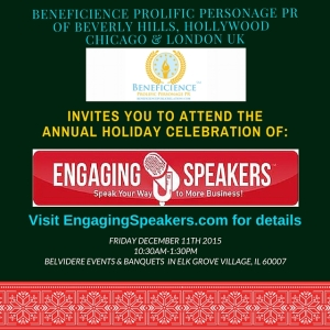 Visit http://EngagingSpeakers.com today for details. Media Contact:  Tracey Bond for media opportunites, et als.