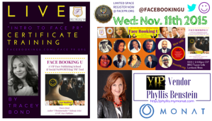 INTROTOFACEPR Certificate Event Nov. 11th Announcement  of VIP Vendor Phyllis Benstein - MONAT - FacePr.Org