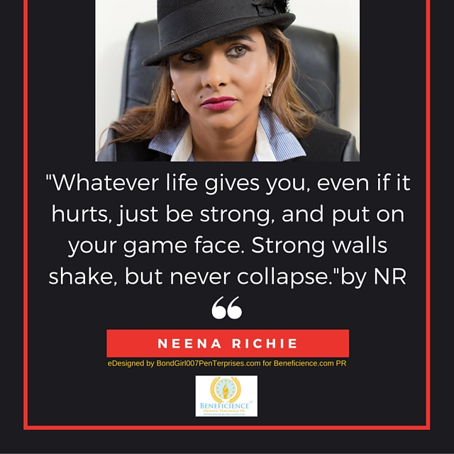 """""""Whatever life gives you, even if it hurts, just be strong, and put on your game face. Strong walls shake, but never collapse.""""- by NR 