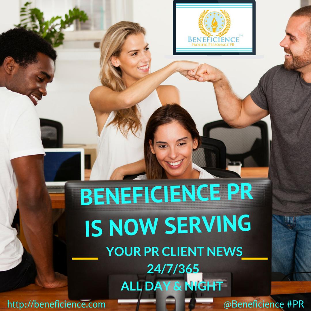 BENEFICIENCE.com is NOW SERVING YOUR #PRNEWS 247365- ePRess eDesign by BondGirl007Penterprises.com