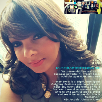 """Tracey Bond, PhJrn + Publicist at Beneficience.com PR is proud to be recognized and vetted to the list of """"100 Female LinkedIn Members You Should Cross Promote With This Holiday Season"""""""
