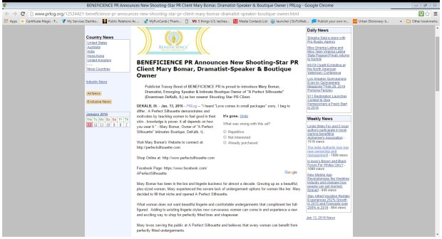 Screenshot - MBomar - APS Screenshot of Press Release
