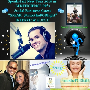 SPEAK! #intothepodlight - A mediaphilic podcast hosted by Tracey Bond - Beneficience.com PR Featuring Chistopher Pearman Author of Dream So Big and Celebrity dad of Actress Raven Symone