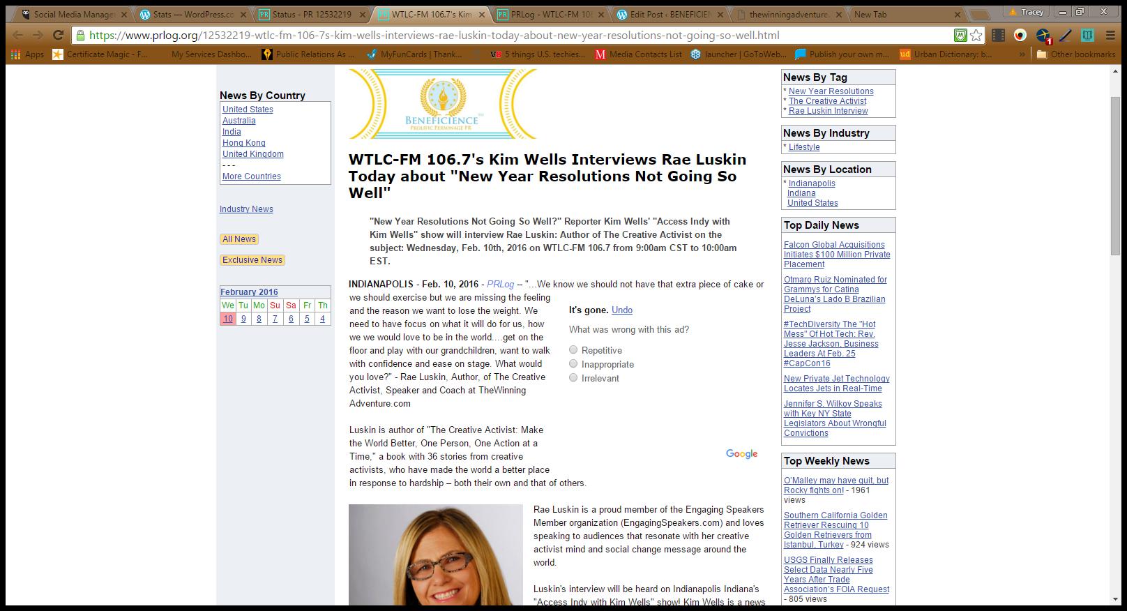 Rae Luskin Press Release Screenshot2102016