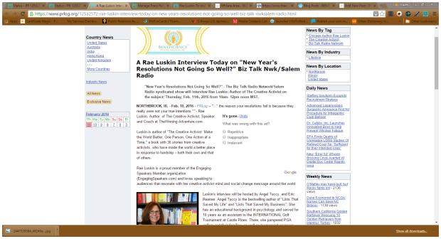 RAe Luskin Press Release Screenshot 2112016