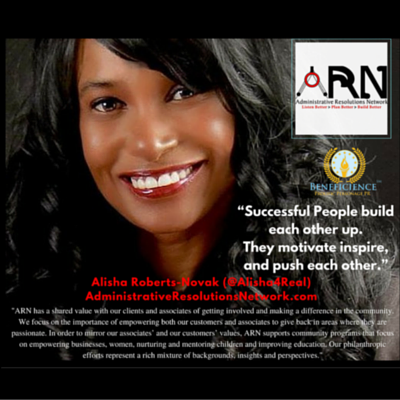 Alisha Roberts-Novak D.Ol of ARN featured Beneficience.com PRNews Post on Successful People