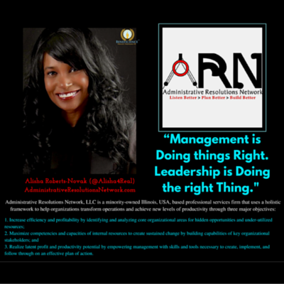 Alisha Roberts-Novak D.Ol of ARN featured Beneficience.com PRNews Post on Management and Leadership