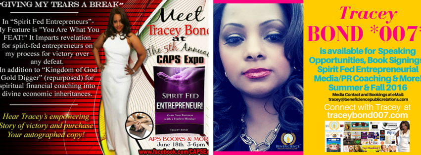 Meet Amazon Bestselling Book Author Tracey Bond at Chicago Book Signing Saturday June 18th, 2016 – More at TraceyBond007.com