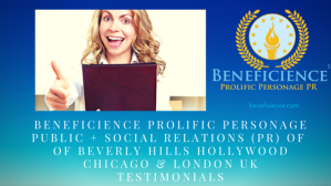 Beneficience.com public + social business relations reviews (current & past)