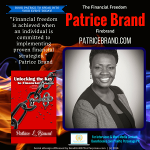 Patrice Brand @patricebrand - Author & Event Speaker, Coach Media Contact Beneficience.com Prolific Personage PR - Social Graphic eDesign ePRessed by Tracey Bond 007 BondGirl007Penterprises.com - (C) 2015