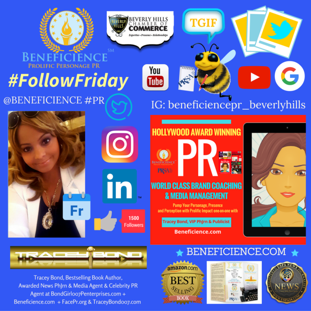 Tracey Bond is shouting TGIF on #FollowFriday Lets Connect and share the Friday festivities wherever you connect social @tracey007bond @Beneficience PR