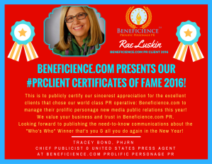 beneficience-com-pr-presents-our-pr-client-certificates-of-fame-2016-rae-luskin