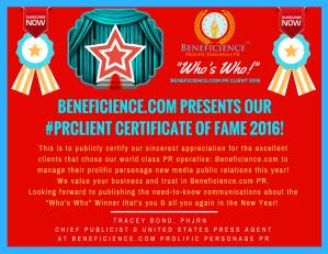 beneficience-com-pr-presents-our-pr-client-certificates-of-fame-2016