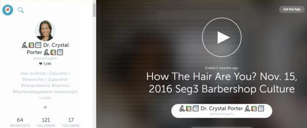 periscope-dr-crystal-porter-how-the-hair-are-you-show