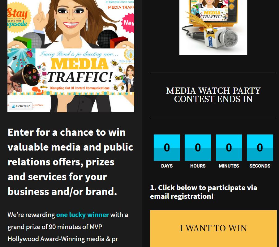 WatchMediaTrafficShow MOnday March 27thContest