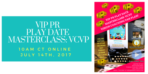 VIP PR PLAY DATE MASTERCLASS- VCVP JULY 14TH 2017 TWITTER POST