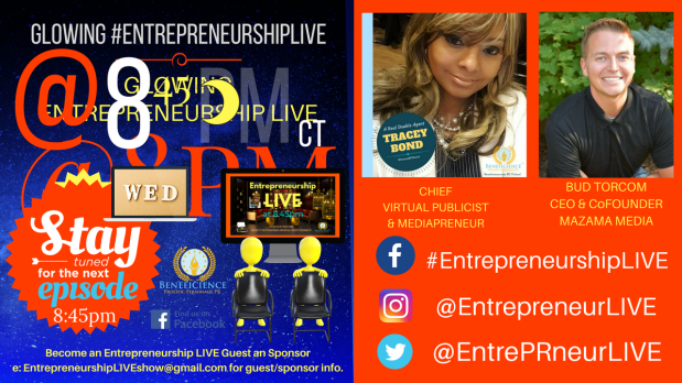 Entrepreneurship LIVE New Episode - New Guests Facebook.comEntrepreneurshipLIVE