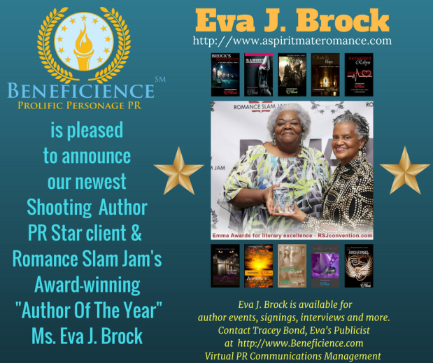 Copy of Beneficience Announces Our New Author PR Star client MS. Eva J. Brock - http-www.aspiritmateromance.com (1)
