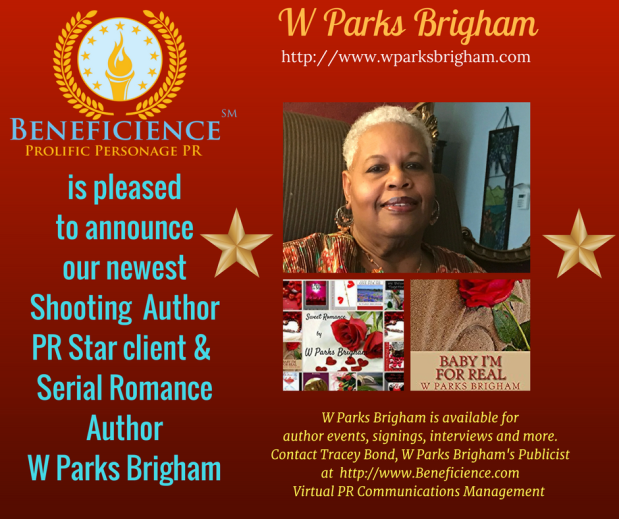 Copy of Copy of Beneficience Announces Our New Author PR Star client Ms. W Parks Brigham - WParksBrigham.com