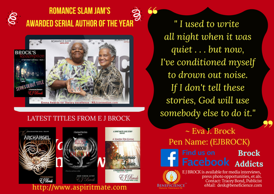 Beneficience.com PResents Paranormal Romance Author E J Brock is available for media interviews and press opportunities & more at email desk@beneficience.com