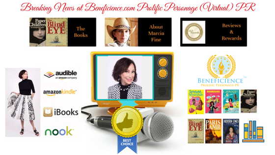 For Immediate Release Breaking News_ Multi Award Winning Author Marcia Fine Beneficience.com Virtual PR