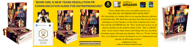LinkedIn Pro Finder Best in PR Consulting Tracey Bond with New Book Review for Out With The Old TREND INTO YOUR NEW #OWTOTIYN