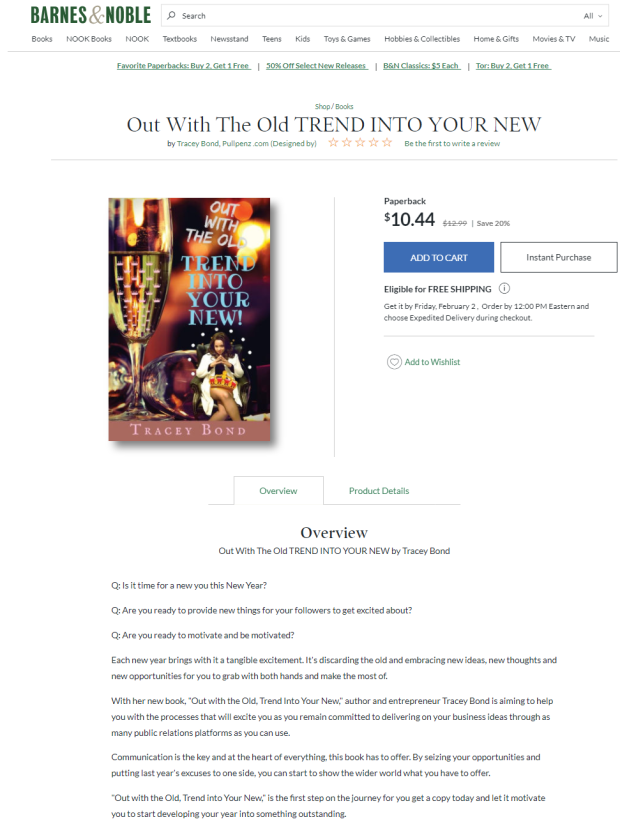 Out With The Old TREND INTO YOUR NEW by Tracey Bond is available at www.barnesandnoble.com-2018-01-30-01-04-46-862