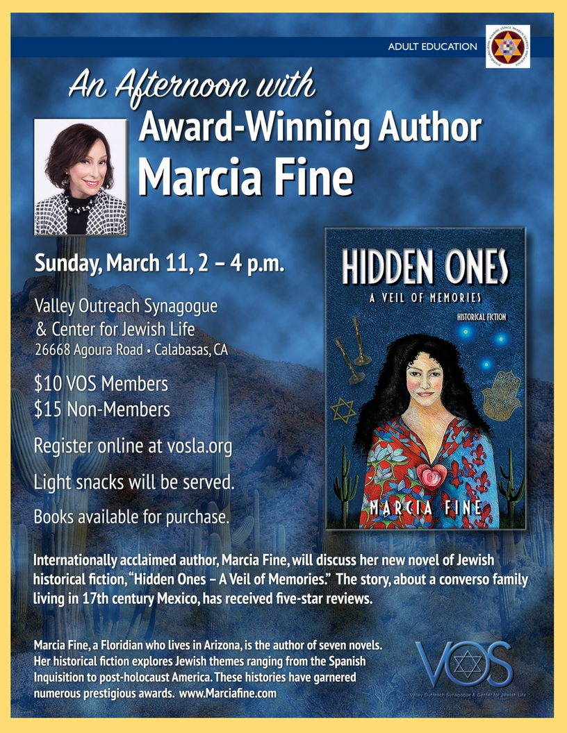 T.I.A. Talk – An Afternoon with Marcia Fine March 11th, 2018 VOS in Calabasas California